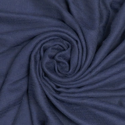 Cotton & Wool Mix Scarf - Midnight Blue